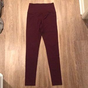 Zella XS burgundy yoga pants